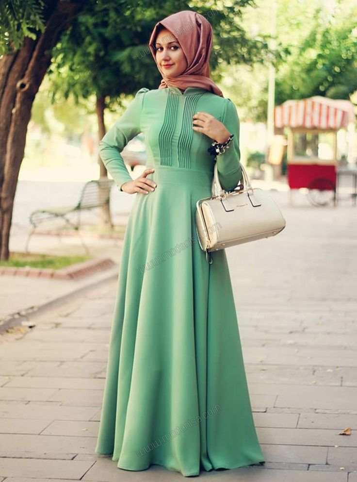 Ribbed Dress - Green - Minel Aşk