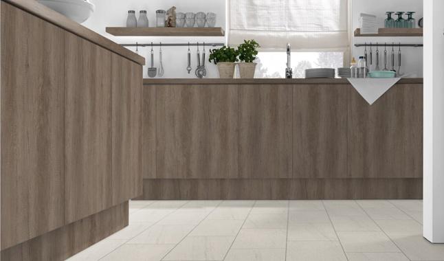 Grey Nebraska Oak H3332 Kitchen