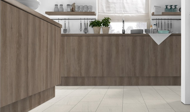 Grey Nebraska Oak H3332 Kitchen