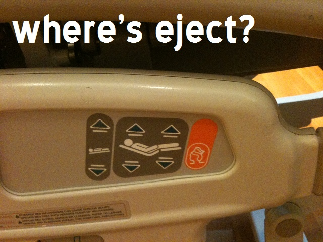 Hospital Beds need an 'Eject' button!