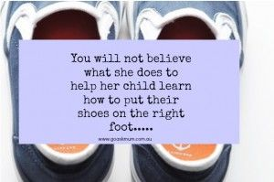 You won't believe what she does to help her child learn how to put their shoes on the right feet…  #parentinghack #shoes #toddler #parenting #genius
