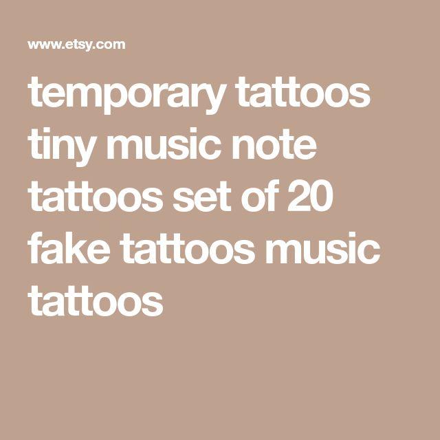 temporary tattoos tiny music note tattoos set of 20 fake tattoos music tattoos