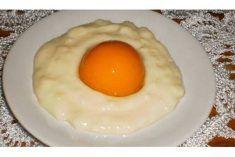 Receita da minha avó Sobremesa ovo estrelado