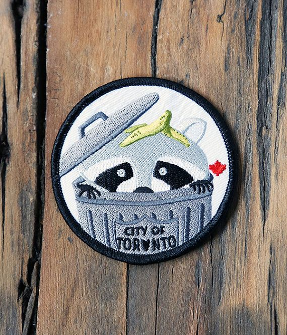 Toronto Raccoon Patch by crywolf on Etsy