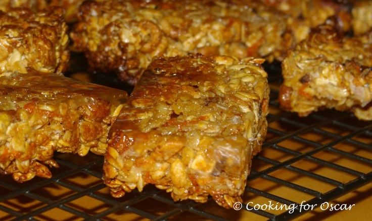 Carrot and Zucchini Muesli Bars | Cooking for Oscar - Snacks and lun ...