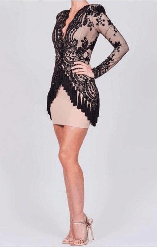 Vestido Bordado com Paetês - Compre Online | DMS Boutique