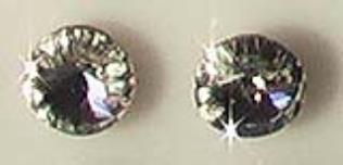 Swarovski fülbevaló 9 mm átlátszó kristállyal - Swarovski pötty fülbevalók - Fülbevalók - Ékszerek-Hajbavalók - Rea Tex Kézimunka Webáruház