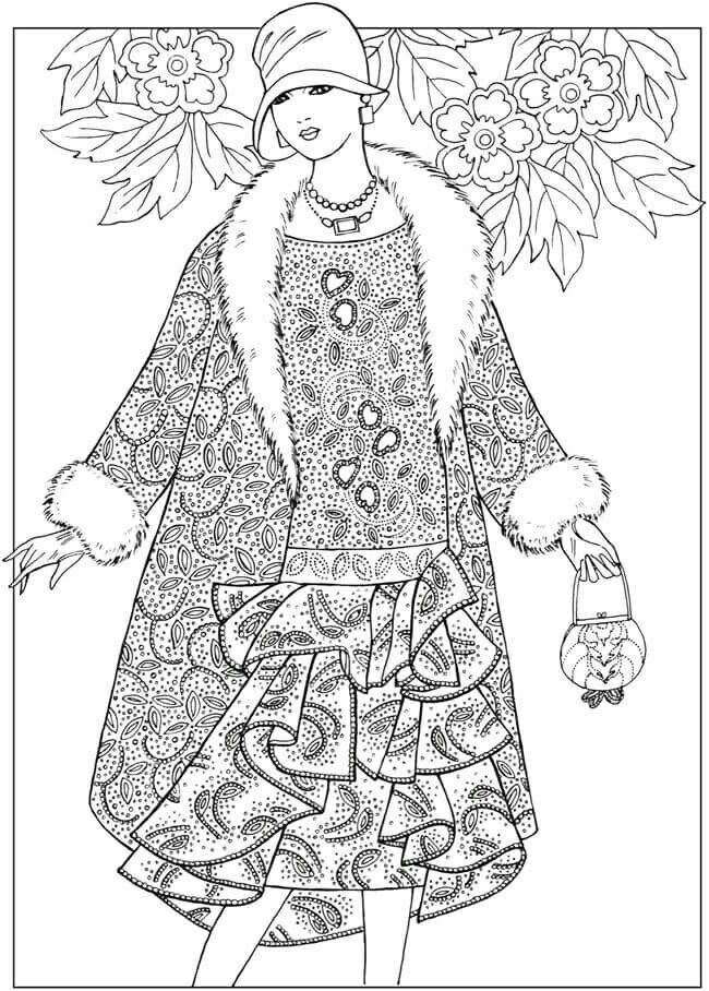 Free Coloring Page From Dover Publication S Facebook Page