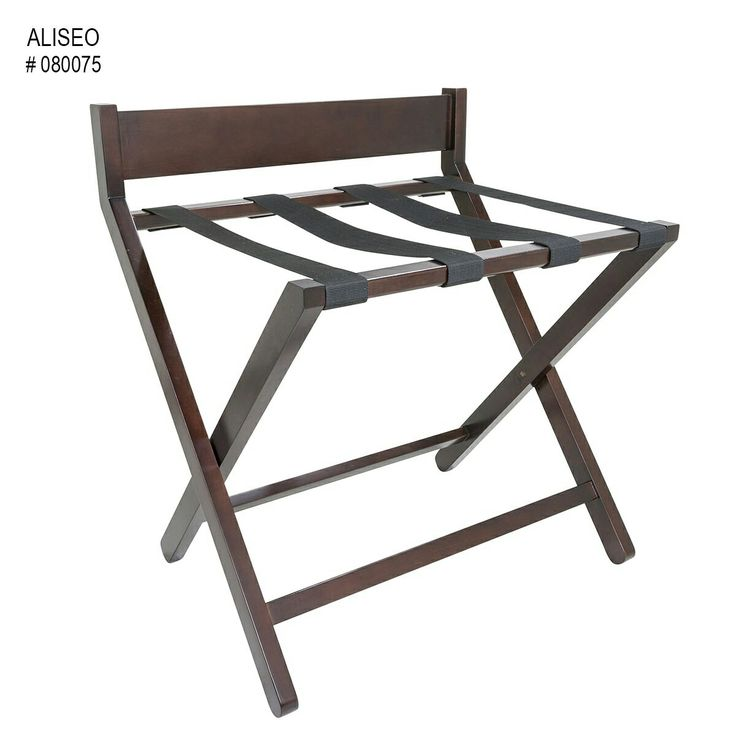 Furnish your hotel,guesthouse or even your home with this mahogany stained luggage rack. With black straps, it's a great way to show your decor in your home and a stunning rack makes your guests feel at home.