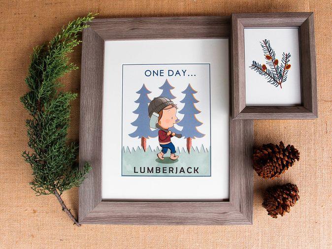 One Day Kids Prints - Lumberjack (www.chloeandgeorge.com.au)