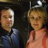 Still of David Hewlett and Amanda Tapping in Stargate: Atlantis