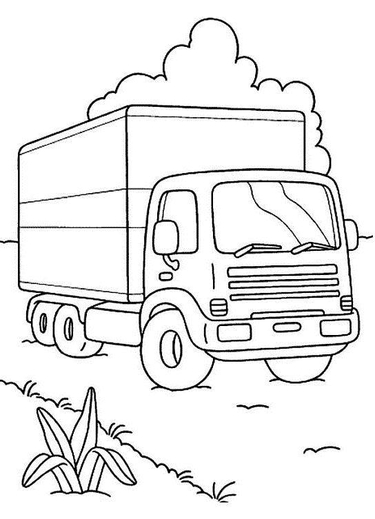coloriage camion pompier a imprimer 7