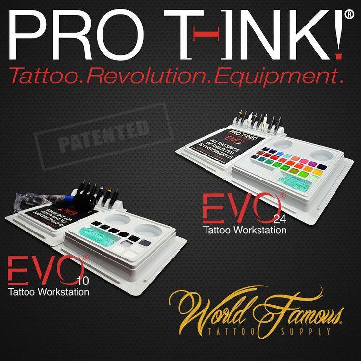 EVO Tattoo Workstations @ @worldfamoustattoosupply #protink #evo #evo10 #evo24 #tattooworkstation #tattoosetup #tattooequipment #worldtattoosupply #tattoorevolution #inkcups #tattooinks #quicktattoosetup #stopcrosscontamination #worldfamous