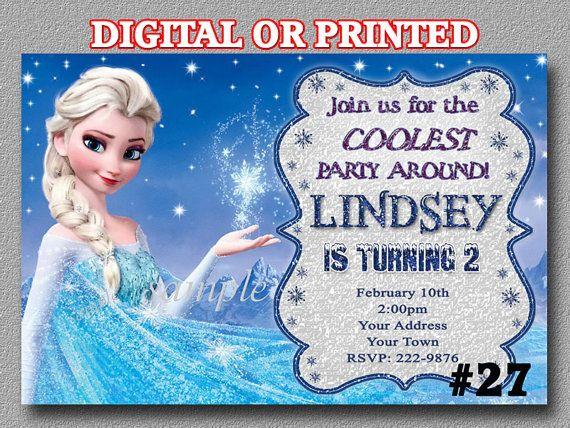 Disney Frozen Invitation Birthday Party by LetsPartyShoppe on Etsy