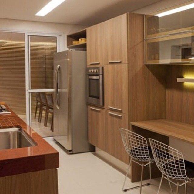 Cozinha Toda Em Madeira Super Aconchegante Projeto By