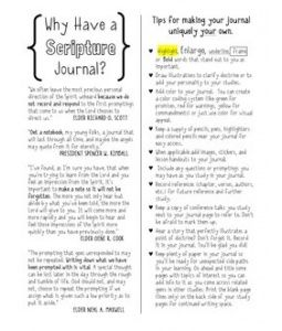 Why Have a Scripture Journal?