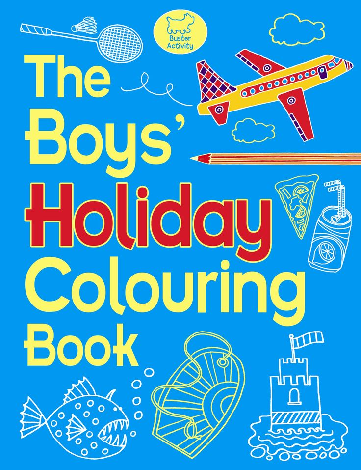 The Boys Holiday Colouring Book