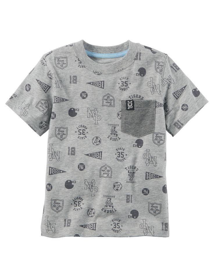 Kid Boy Varsity Pocket Tee from Carters.com. Shop clothing & accessories from a trusted name in kids, toddlers, and baby clothes.