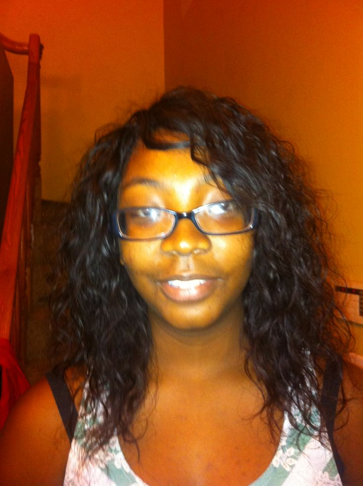 Full Weave With Wet And Wavy Hair Cb Hair And Custom