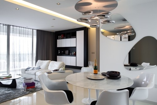 Contemporary Dining Room By Black N White House Miroir