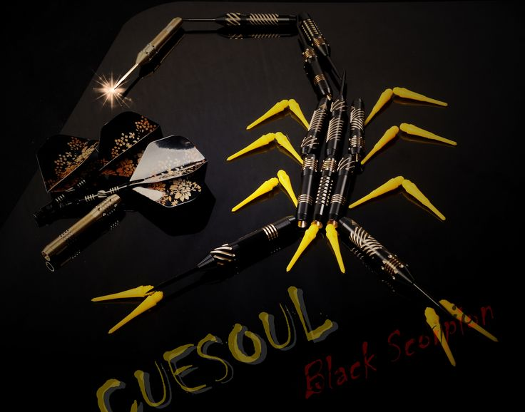 Cuesoul Black Scorpion Steel/Soft Tips #Darts Series, Very Cool and Fashional design ,another great choice for primary #dartsplayer, Now available on #Cuesoul.com , #Amazon.com ,#Amazon Europe (uk,de,fr,es,it),#eBay and #Wish  etc.High density tungsten materials for black scorpion series are coming soon ...