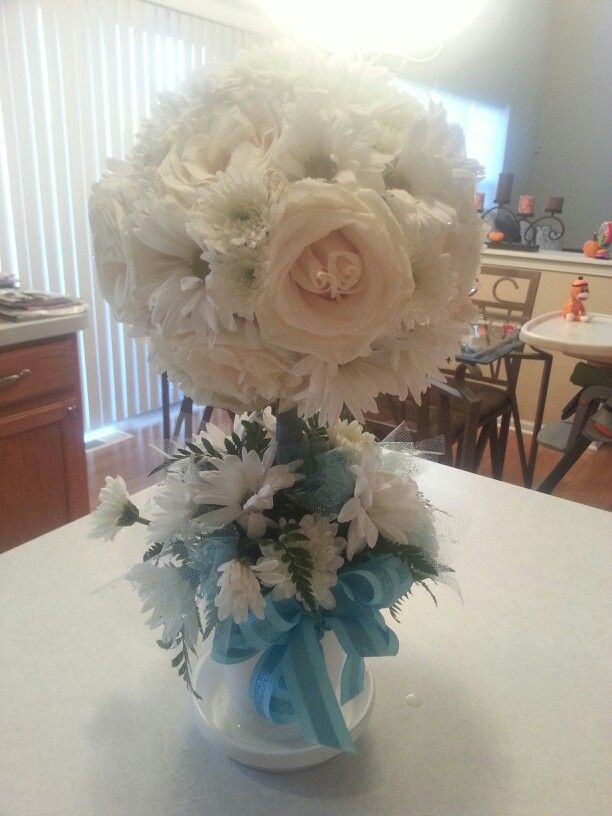 Ideas about boy baptism centerpieces on pinterest