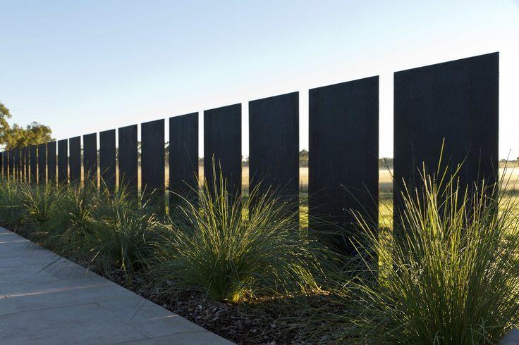 corten steel fence, motive