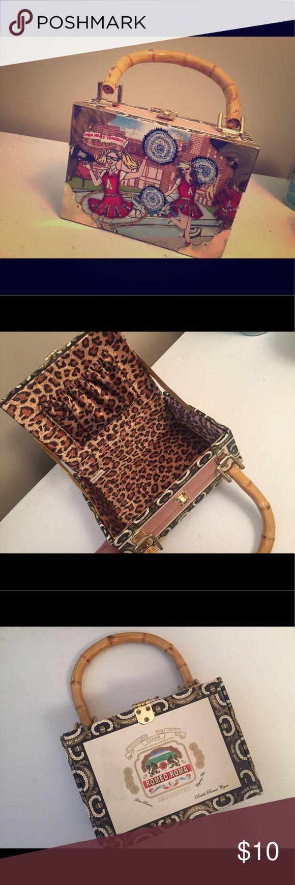 Cigar Box Purse Cute cheerleading cigar purse Accessories