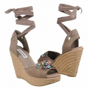SALE - Steve Madden Chryslis Wedge Heels Womens Taupe - $53.4 ONLY. Was $89.00 - You SAVE $36.00.