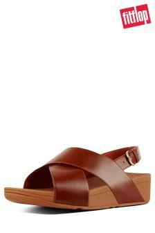 317f633f88c9 FitFlop™ Caramel Leather Lulu™ Cross Back Strap Sandal