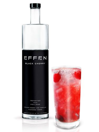 EFFEN® Vodka Sparkling Black Cherry Cooler Ingredients   1 ½ parts EFFEN Black Cherry Vodka  1 part Pink Lemonade Juice  1 part Honey Syrup 1 Lime Wedge  1 Lemon Wedge  1 Orange Wedge  Instructions  Squeeze and drop lime, lemon and orange wedges into tall glass over ice. Add remaining ingredients and stir well.