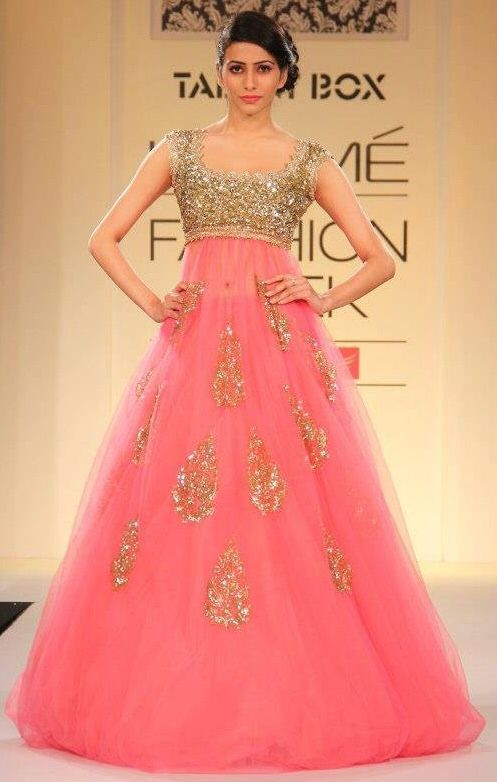 Pretty pink Indo western gown