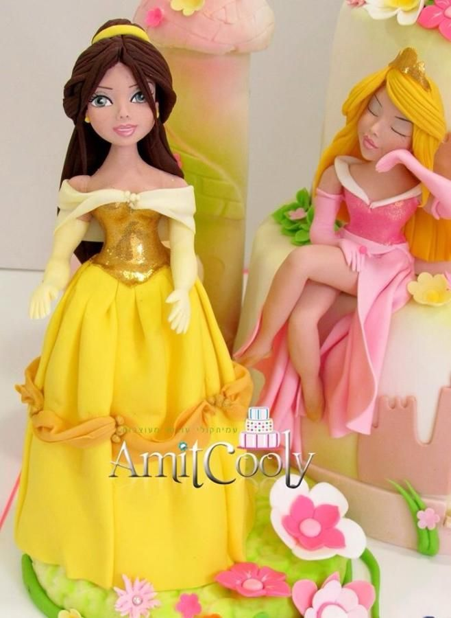 Princess Belle and sleeping beauty.