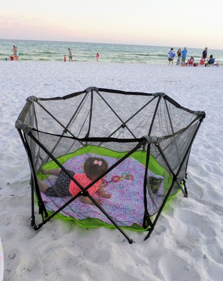 What baby beach gear should you bring to the beach to keep you and baby happy, safe and protected from the sun.