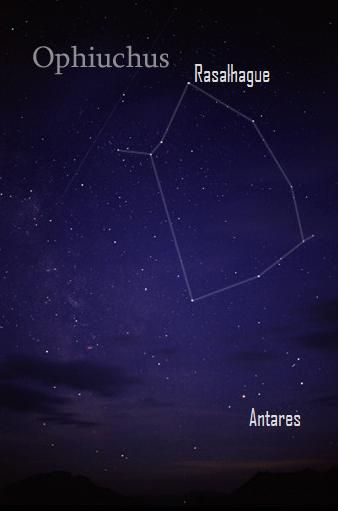 The sun always passes in front of Ophiuchus from about November 29 to December 18.  That's why some call Ophiuchus an unofficial member of the Zodiac.