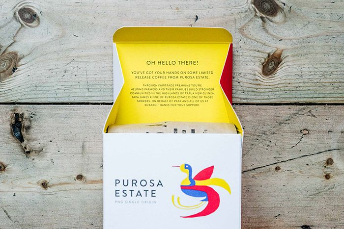 Extra-special packaging for an extra-special Kokako coffee - by Auckland studio Design Dairy: