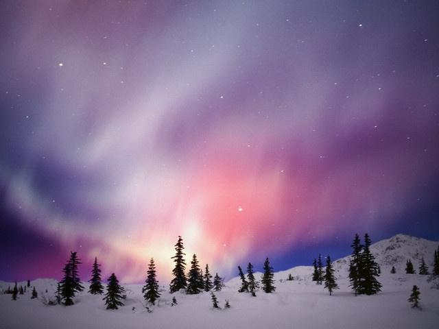 *WINTER AURORA BOREALIS ~ NORTHERN LIGHTS