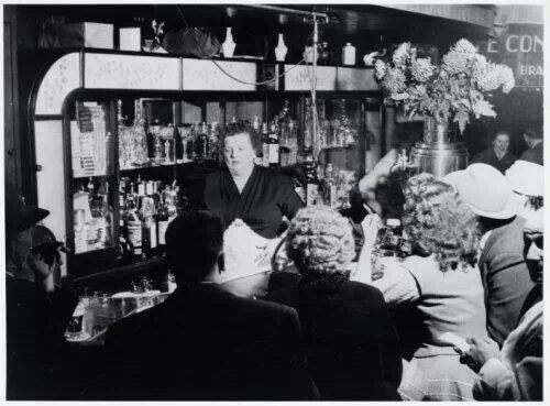 1960's. Tante Leen in cafe Royal at the Nieuwendijk 103 in Amsterdam. #amsterdam #1960