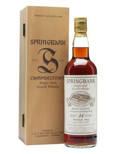 Springbank 1966 / 34 Year Old / Sherry Cask Scotch Whisky : The Whisky Exchange