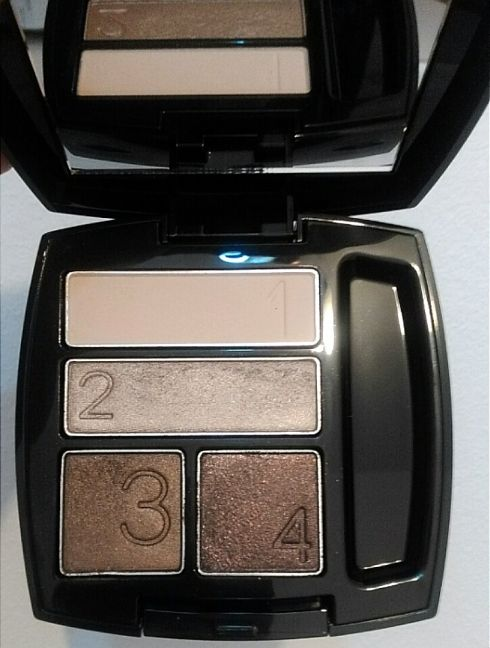 avon true color quad smokey brown