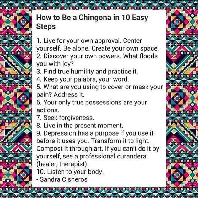 2319 best healthy inspiration via words images stuff images how to be a chingona in 10 easy steps by sandra cisneros from https fandeluxe Choice Image