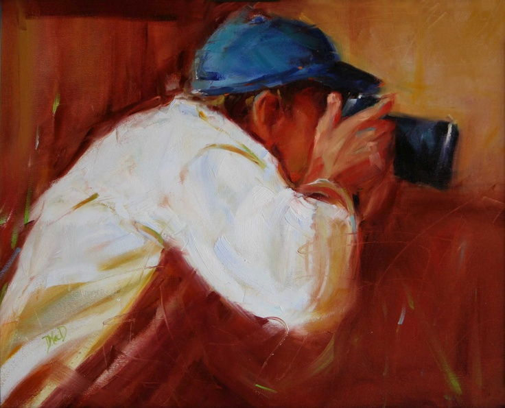 DAILY PAINTING Donna MacDonald: Photographer Oil Painting