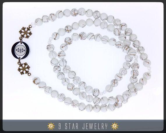 Baha'i Prayer Beads - Joy of Purity - Full 95 (Alláh-u-Abhá) - Unique - BPBA106 #9starjewelry #bahaiprayerbeads #bahai #bahaijewelry