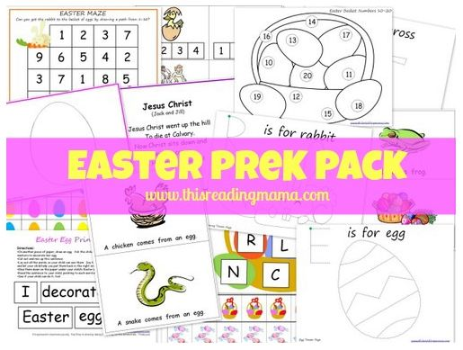 Free Easter Pre-K Pack