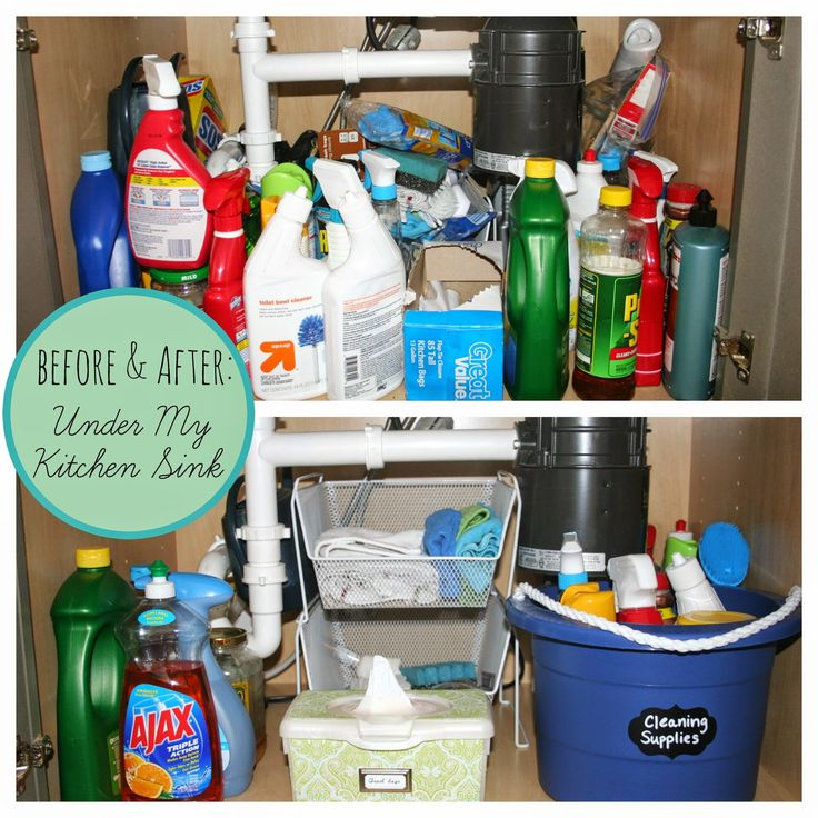 Before & After: A Professional Organizer's cabinet under