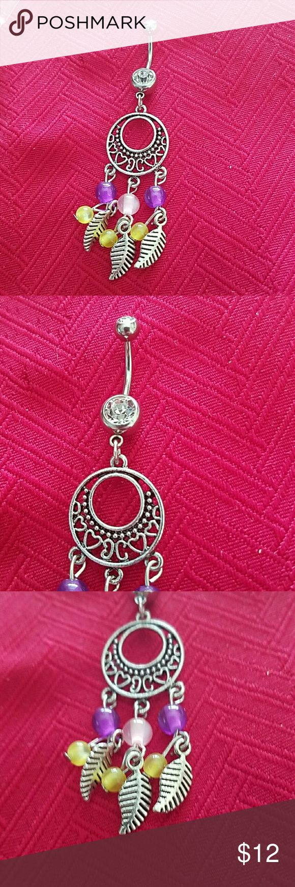 New dreamcatcher navel belly ring New dreamcatcher navel belly ring dangles Jewelry