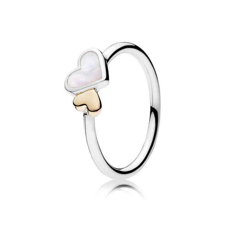 PANDORA Luminous Hearts Ring | Special price: £59.98 | Buy now: http://www.pandorasale2012.com/pandora-silver-ring-gold-heart.html