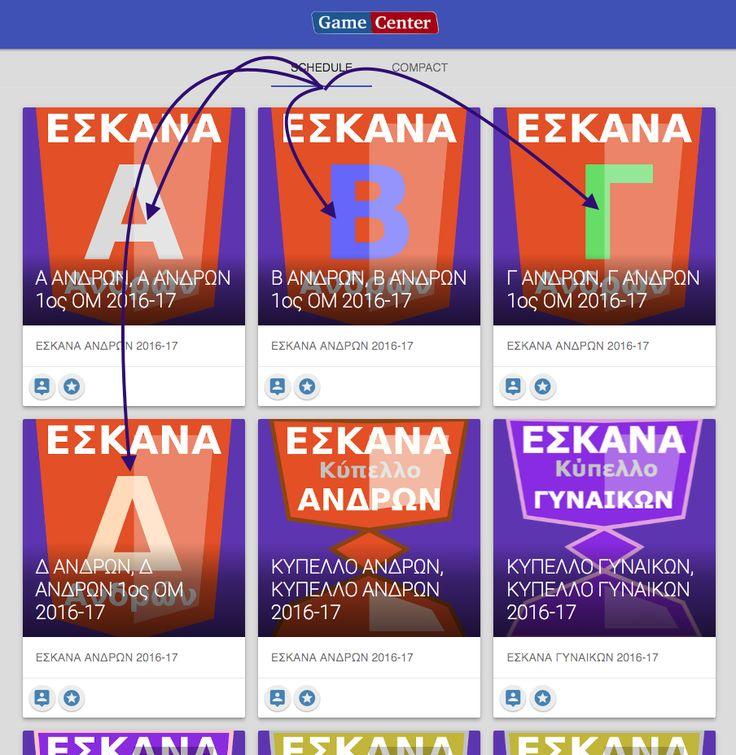 ΥΠΕΝΘΥΜΙΣΗ Δυνατότητας προβολής προγράμματος αγώνων (ΜΙΑΣ) ομάδας της επιλογής μας, στο ESKANA gameCenter