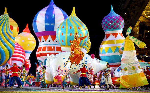 2014 Sochi Winter Olympics Opening Ceremonies Balloons