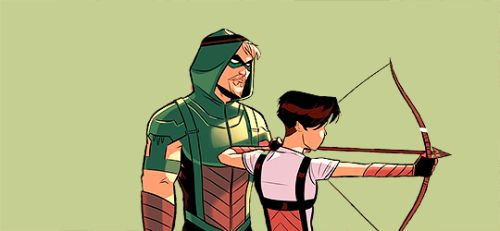 Oliver Training Emiko in Green Arrow #7